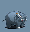 Cartoon: Man Elephant... (small) by berk-olgun tagged man,elephant