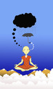 Cartoon: Meditation... (small) by berk-olgun tagged meditation