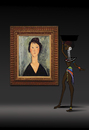 Cartoon: Modigliani... (small) by berk-olgun tagged modigliani