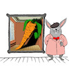 Cartoon: Rabbit Magritte... (small) by berk-olgun tagged listening,room