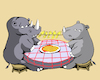 Cartoon: Rhino in Love... (small) by berk-olgun tagged rhino,in,love
