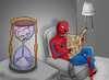 Cartoon: Sandman vs Spiderman.. (small) by berk-olgun tagged sandman,vs,spiderman