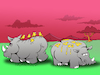 Cartoon: Savannah Romance... (small) by berk-olgun tagged savannah,romance