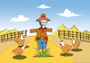 Cartoon: Scarecrow... (small) by berk-olgun tagged scarecrow
