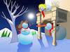 Cartoon: Snowman de Bergerac... (small) by berk-olgun tagged snowman,de,bergerac