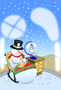 Cartoon: Snowman Globe... (small) by berk-olgun tagged snowman,globe