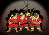 Cartoon: THREE MUSKETEERS... (small) by berk-olgun tagged three,musketeers