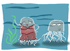 Cartoon: Transparent Jellyfish... (small) by berk-olgun tagged transparent,jellyfish