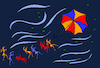 Cartoon: Umbrella Kite... (small) by berk-olgun tagged umbrella,kite
