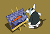 Cartoon: Vincent Rabbit Gogh... (small) by berk-olgun tagged vincent,rabbit,gogh