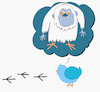 Cartoon: Yeti Bird... (small) by berk-olgun tagged yeti,bird