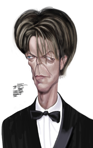 Cartoon: D BOWIE (medium) by Marian Avramescu tagged mmmmmmmmmm