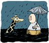 Cartoon: Noah (small) by jen-sch tagged noah,noach,ark,arche,bibel,sintflut,regen,giraffe,tsunami