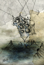 Cartoon: Los ojos comenzaron a llorar (small) by PabloManzano tagged surrealism