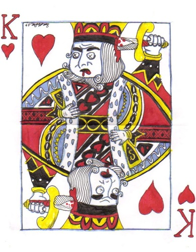Cartoon: The King Of Hearts (medium) by m-crackaz tagged king,of,hearts,card
