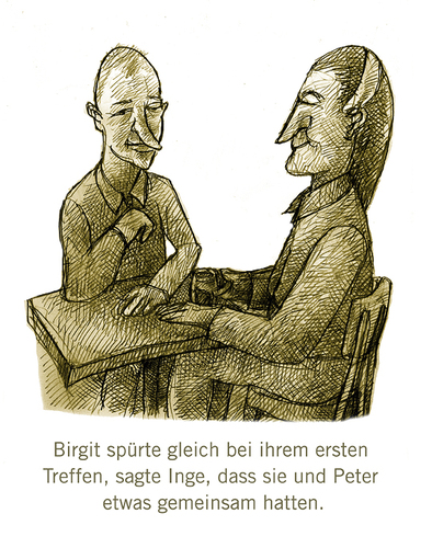 Cartoon: Gemeinsamkeiten (medium) by jenapaul tagged humor,satire,paare,couples
