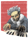 Cartoon: beethoven (small) by jenapaul tagged beethoven music classical composer