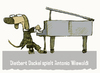 Cartoon: Dackel in concert (small) by jenapaul tagged dackel,hund,hunde,konzert,piano,flügel,musik
