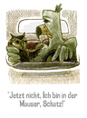 Cartoon: Mauser (small) by jenapaul tagged menschen,paare,liebe,beziehung,adler,eule,humor