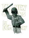 Cartoon: new lessons in democracy (small) by jenapaul tagged police,politics,demonstration,state,news
