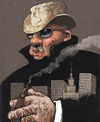 Cartoon: boss (small) by Wiejacki tagged mafia,gangster,hat,city,town,dirty,business