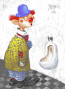 Cartoon: clown (small) by Wiejacki tagged clown,fun,wc,joke,surprise