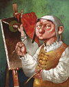 Cartoon: Hieronimus (small) by Wiejacki tagged art paintings medieval