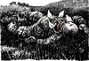 Cartoon: No title (small) by Wiejacki tagged war,soldier,death,battlefield,peave,dove,birds