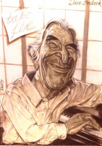 Cartoon: Dave Brubeck (medium) by Tonio tagged portrait,caricature,musician,jazz,star