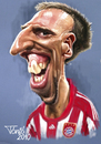 Cartoon: Frank Ribery FC Bayern (small) by Tonio tagged francia franzözisch soccer football nationalmanschaft münchen karikatur fussball