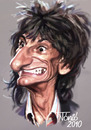 Cartoon: Ron Wood The Rolling Stones (small) by Tonio tagged music rock and roll blues english