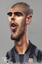 Cartoon: Victor Valdes FC Barcelona (small) by Tonio tagged football