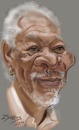 Cartoon: Morgan Freeman (small) by zsoldos tagged actor famous people