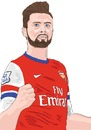 Cartoon: Arsenal Giroud 2 (small) by Vandersart tagged arsenal,cartoons