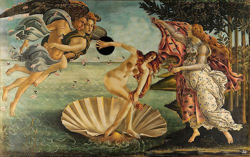 Cartoon: Fitness (medium) by zu tagged botticelli,venus,discusthrower,myron,fitness