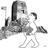 Cartoon: Battering ram (small) by zu tagged battering,ram,combat