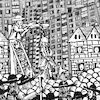 Cartoon: City (small) by zu tagged city,medieval,gibbet
