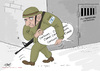 Cartoon: Freedom forPalestinian cartoonis (small) by islamashour tagged israel,palestinian,cartoonist