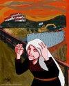 Cartoon: Palestinian Scream (small) by islamashour tagged palestinianthe,scream,women,israeli,settlements,soldiers,palestinian,west,bank,israel,politi,calcartoonist,occupation,israelis,army,activism,palestine