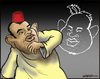 Cartoon: A royal cartoon (small) by jeander tagged morocco,king,cariacature,forbidden,mohammed,vi