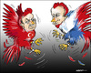 Cartoon: Cockfighting (small) by jeander tagged erdogan,putin,conflict