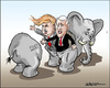 Cartoon: Presidential candidates (small) by jeander tagged donald,trump,mike,pence,gop,republican,party,president,election