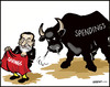 Cartoon: Spain (small) by jeander tagged spain,euro,crisis,mariano,rajoy,spendings,savings