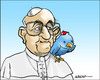 Cartoon: Twitterpope (small) by jeander tagged pope francis twitter