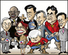 Cartoon: US presidential election 2012 (small) by jeander tagged us,election,president,campaign,candidates,republicans,republican,party,ron,paul,herman,cain,michele,bachmann,mitt,romney,newt,gingrich,jon,huntsman,rick,perry,och,santorum