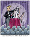 Cartoon: spannung (small) by pentrick tagged zaubern,zauberer,magician,show,spannend,exciting,geduld,patience,kaninchen,rabbit,gerd,bökesch,cartoon,showbusiness,bühne,stage,entertainment,unterhaltung,zuschauer,tank,comics,tankcomics