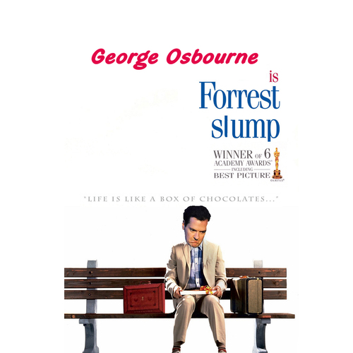 Cartoon: Forrest SLUMP (medium) by andybennett tagged street,downing,chancellor,osbourne,george,gump,forrest