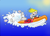 Cartoon: Manic RIB Racer (small) by andybennett tagged fms falmouth marine school
