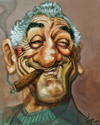 Cartoon: DE NIRO THE BOSS (small) by GOYET tagged robert,de,nirocaricatures,celebreties,stars