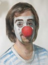 Cartoon: THE CLOWM (small) by GOYET tagged my,sel,portrait,pastel,autoportrait,goyet,artist,painter,clowm